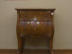美联邦板木彩绘斗柜收纳柜装饰柜
