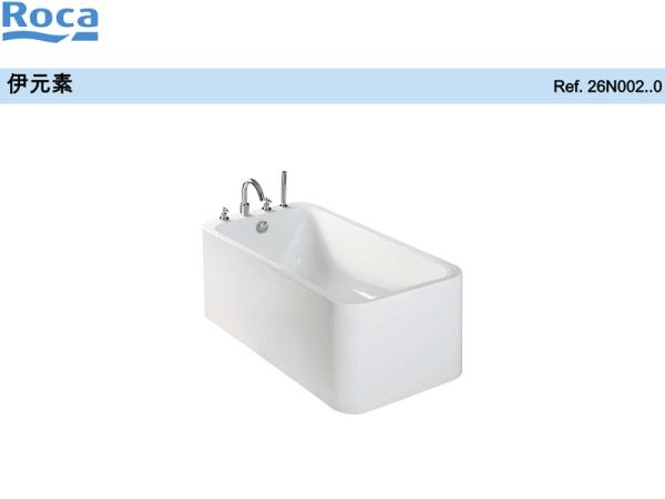 Roca乐家伊元素独立式普通浴缸含缸边龙头 家用浴缸