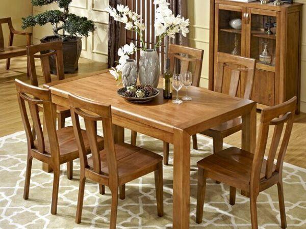 作木坊 实木餐桌餐椅套装实木家具餐台实木餐桌椅组合餐厅饭桌