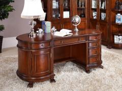 万恒通家具 圣蒂斯堡简美办公台 家用全实木办公桌子