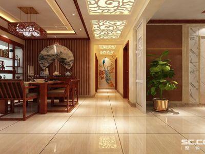 中式古典-150平米三居室装修样板间