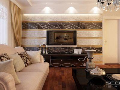 现代奢华-140平米三居室装修样板间