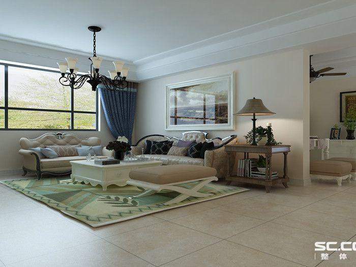 欧美风情-133.9平米三居室-装修样板间