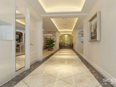 简欧风格-139.11平米三居室装修样板间