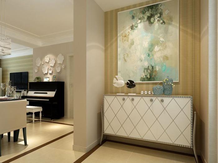 现代简约-102平米三居室-装修样板间