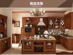 我乐厨柜 整体橱柜 橱柜定做 全屋定制 实木 圣艾米伦