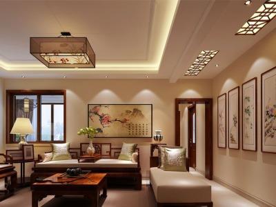 中式风格-90平米二居室装修设计