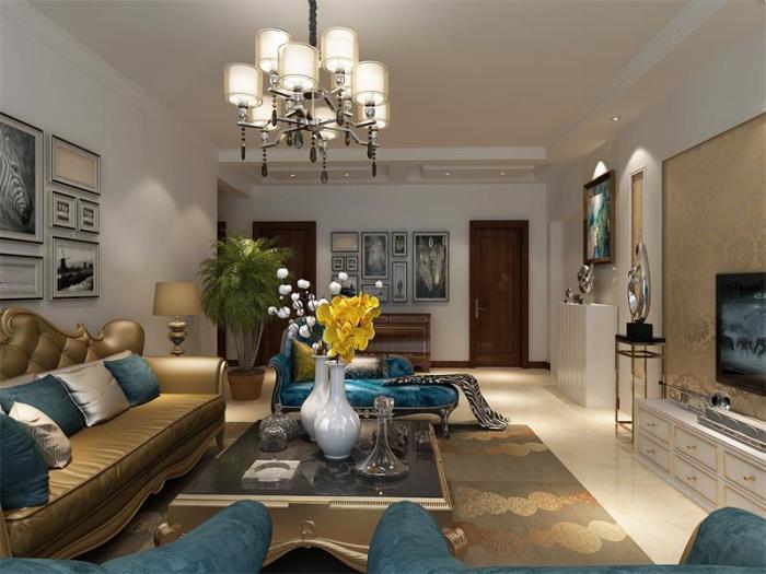 现代简约-130平米三居室-装修设计