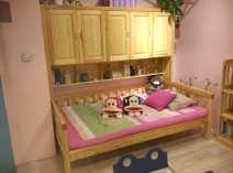 阳光芭比诺书架一体床图片