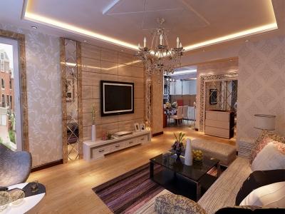 现代简约-160平米三居室装修样板间