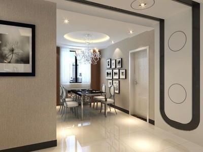 现代简约-90平米三居室装修样板间