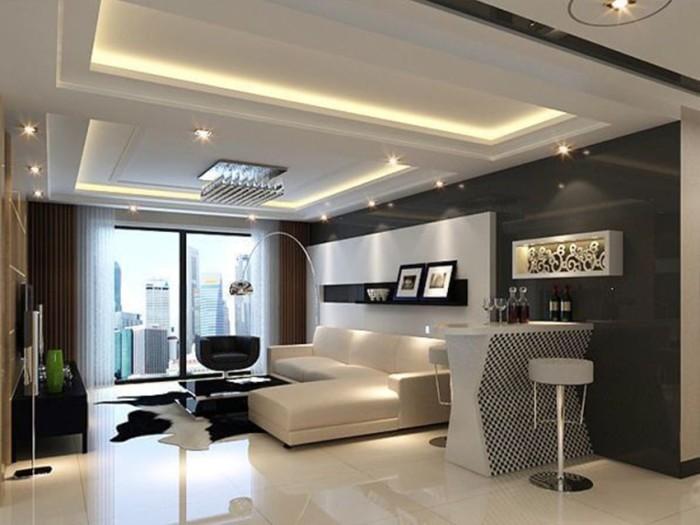 现代简约-90平米三居室-装修样板间