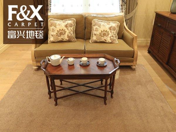 欧式现代家用现代简约卧室小地毯客厅茶几沙发地垫满铺定制纯色