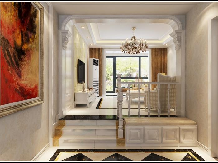简欧风格-152平米三居室-装修样板间