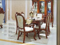 爱玛仕 法式宫廷系列 100%全实木餐桌