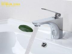 荣事达浴室水龙头WL08冷热洗脸盆全铜卫浴面盆台上盆洗手盆
