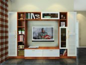客厅整体电视柜组合