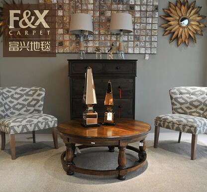 纯色沙发房间茶几现代丙纶化纤满铺长方形地毯客厅 定制