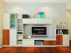 新实用主义客厅电视柜开放柜组合吊柜