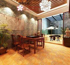 万科海云台家族别墅-370平米-中式风格