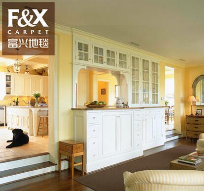 现代家用客厅茶几地毯卧室满铺定制纯色地垫美式小地毯灰色办公室