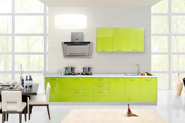 欧博整体厨房 烤漆门板304不锈钢台面整体橱柜定制