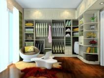 英伦印象卧房家具 衣帽间为L型布局图片
