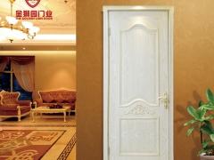 金狮园欧式高档雕花白色水曲柳开放实木门 室内门DH-8005