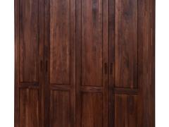 百强家具 黑森林实木系列 9SA1-08 四门衣柜