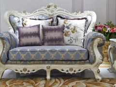 爱玛仕 法式宫廷系列 100%全实木双人沙发!