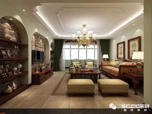 英伦风-120平米三居室-装修样板间
