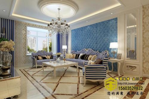财富观邸136平米简欧风格三居室