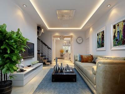 现代简约-144平米四居室装修样板间