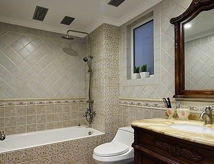 美式风格三居室卫生间浴室柜装修效果图