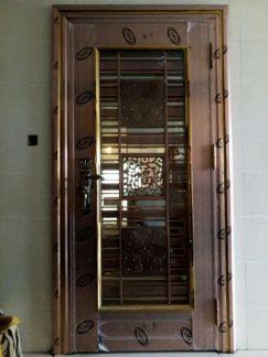 豪华彩色不锈钢门 入户门 大门