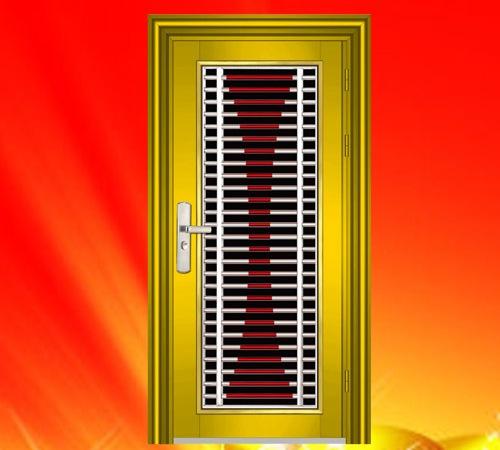 304豪华彩色不锈钢门 入户门 防盗门 大门