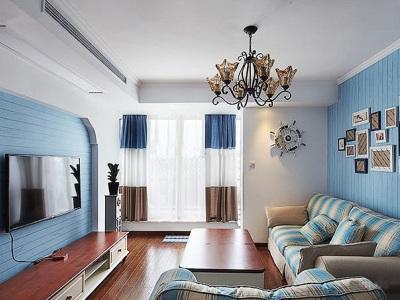 地中海风格-98平米二居室装修样板间
