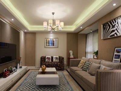 混搭风格-125.19平米三居室装修样板间