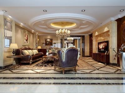 欧美风情-254.8平米五居室装修样板间