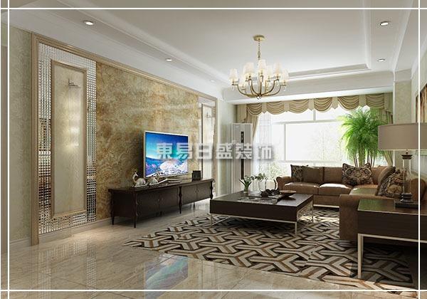 现代欧式-150平米三居室-装修样板间