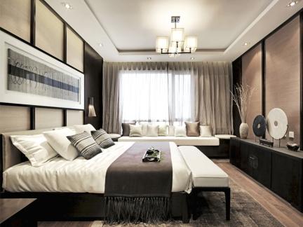 东南亚风格三居室卧室床头柜装修图片
