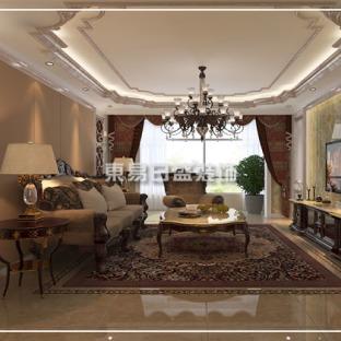 欧式风格五居室装修效果图