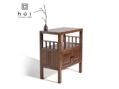回中国胡桃木矮柜中式地柜书架置物架沙发边桌边柜电话几
