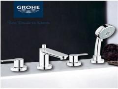 GROHE高仪三孔四孔缸边龙头 浴缸水龙头 花洒组合套装