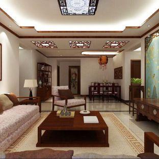 中式风格三居室装修效果图