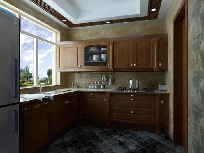 中式风格-91.73平米二居室-装修样板间