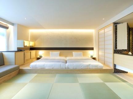 静谧古典40平小复式装修卧室实景图