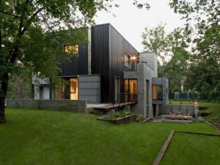 现代简约风格乡村小别墅设计实景图