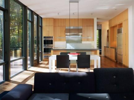 现代简约三室两厅米色餐厅装修图片