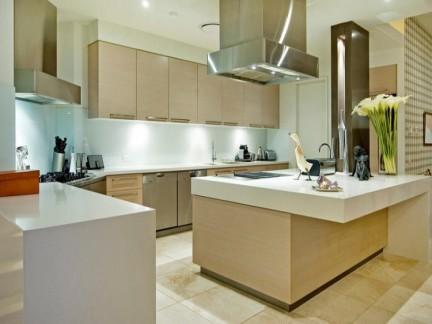 时尚别墅现代风格敞开式厨房装修图